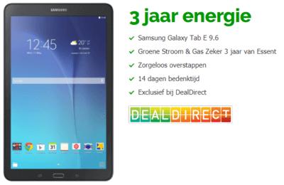 Gratis Samsung Galaxy Tab E Tablet Bij 3 Jaar Energie Via Dealdirect