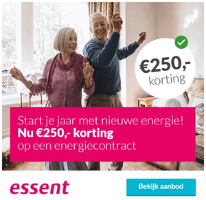 3 Jarig Energiecontract Essent 250 Korting Energie