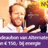 Gratis Alternate cadeaukaart t.w.v. €150,- bij 1 jaar Nuon