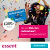Stroom en gas van Essent + Bol.com cadeaubon t.w.v. €200,-