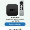 Vattenfall Weekdeal met gratis Apple TV 4K t.w.v. €219,-