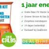 1 jaar energie + gratis Basic-Fit Starter Kit (incl. 1 maand gratis sporten) t.w.v. €74,95