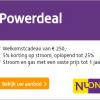 1 jaar stroom en gas van Nuon + €250,- korting en 5% stroomkorting