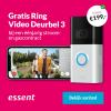 1 jaar Essent + Ring Videodeurbel 3 t.w.v. €199,-