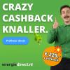 EnergieDirect.nl Crazy Cashback Knaller: Tot €225,- cashback bij 1 jaar energie