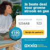 1-jarig stroom en gas contract Oxxio + minimaal €190,- korting
