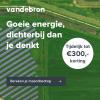 Ontvang €300,- korting bij 3 jaar energie van Vandebron
