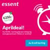 Essent Aprildeal: €250,- korting bij 3 jaar stroom en gas