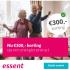 3-jarig energiecontract Essent + €300,- korting